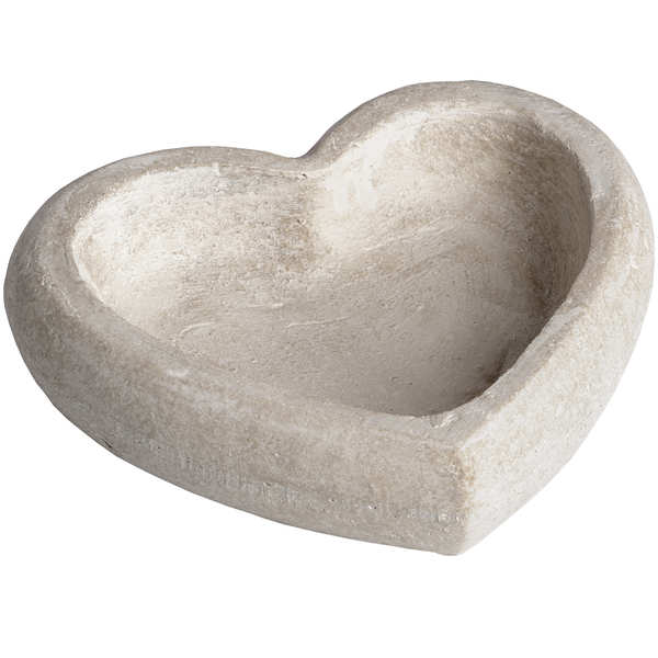 Deep Stone Heart Dish