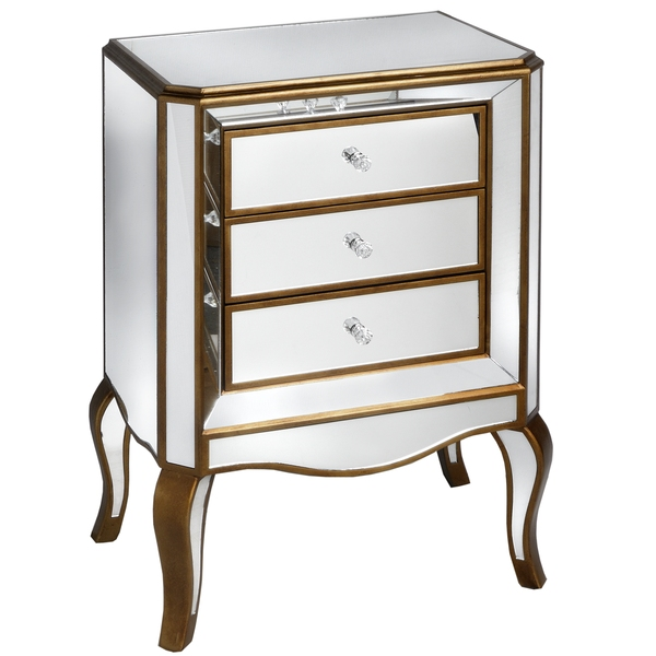 Venetian  Mirrored  3  Drawer  Cabinet