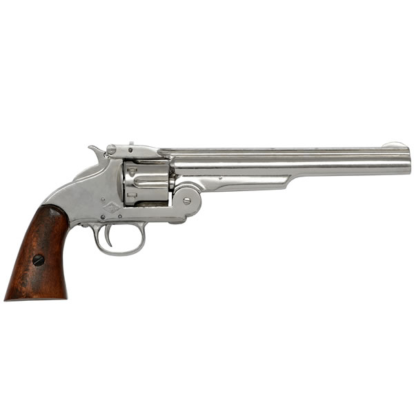 1869 Smith & Wesson 6 Shot Revolver In Nickel Finish