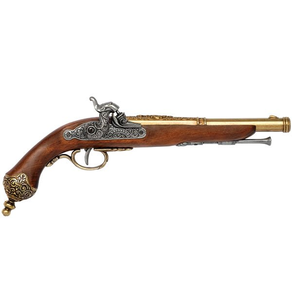Italian Percussion Pistol Solid Brass Trim (1825)