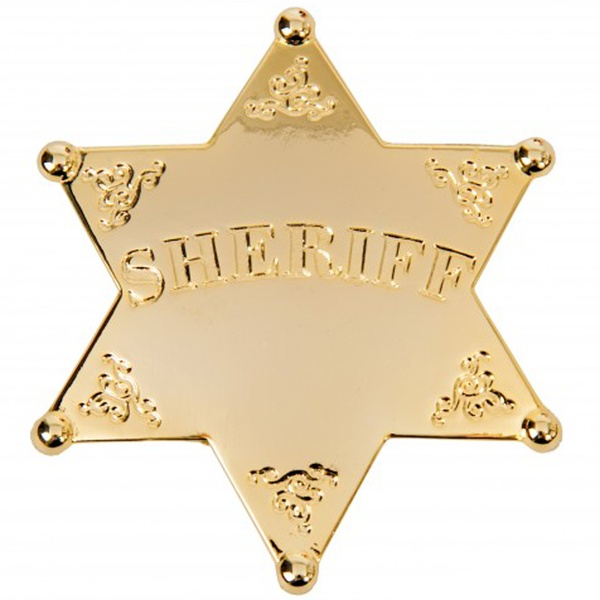 Gold Sheriff Star Badge