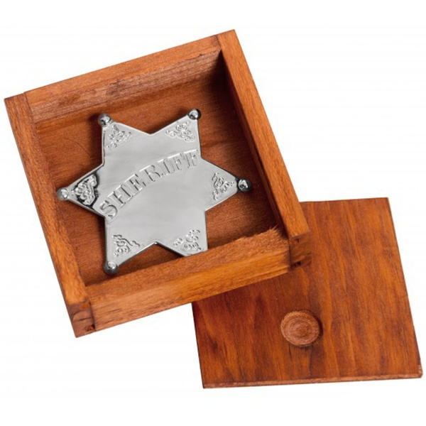 Silver Sheriff Star Badge In Box