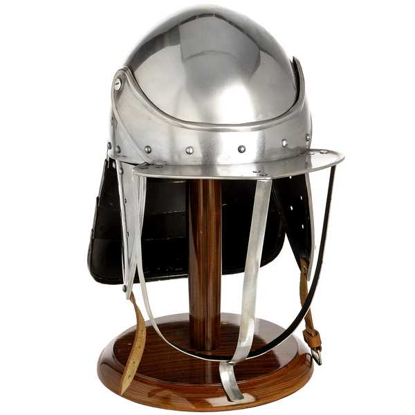 Civil War Lobster Pot Helmet With Stand