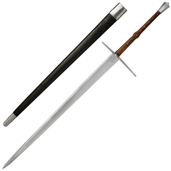 1400 Era 2 Handed Sword And Scabbard