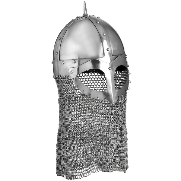 Battle Ready 16 Gauge Steel Viking Age Helmet with Chainmail