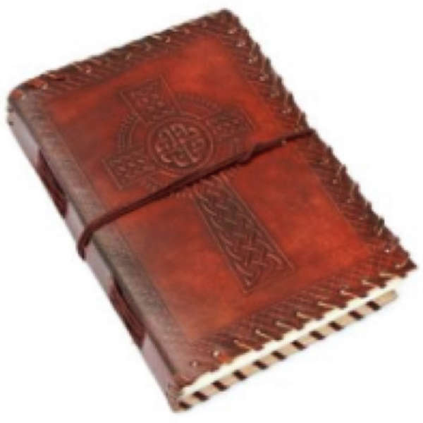 Celtic Cross Leather Notebook