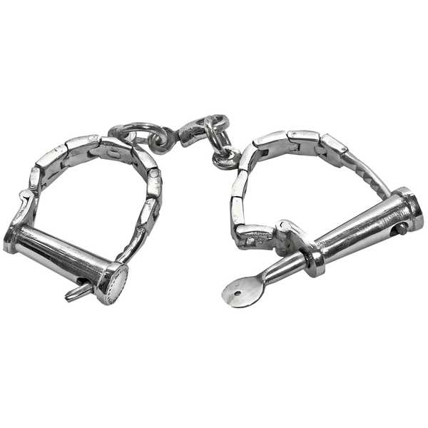 Pair  Of  Nickel  Plated  Ladies  Handcuffs