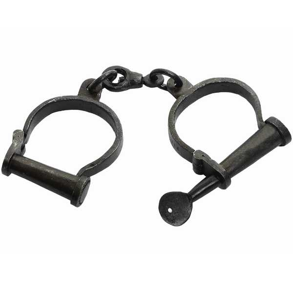 Pair  Of  Black  Handcuffs  Adjustable