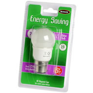 7  Watt  Low  Energy  Golf  Ball  Shape  Bayonet  Bulb  40w  Eq.