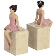 Pair  Of  Little  Girl  Ballerina  Bookends