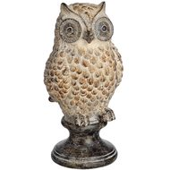 Owl Perched on Stand
