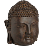 Meditating  Buddha  Head  -  Small  16cm  Tall