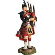 Scottish  Piper  Figurine
