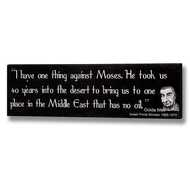 Golda Meir Humorous Quotation Plaque