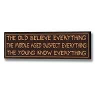 The  Young  Know  Everything  Plaque