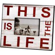 This  Is  The  Life  (white)  Photo  Frame