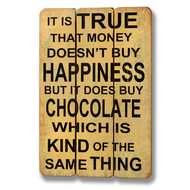 Money  Buys  Chocolate  Plaque