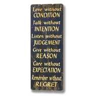 Love  Without  Condition  Plaque