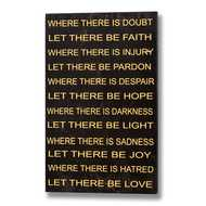 Where  There  Is  Doubt  Plaque