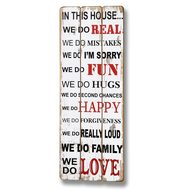 In  This  House  Plank  Style  Plaque