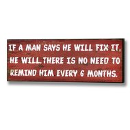 Remind  Him  Every  6  Months  Plaque