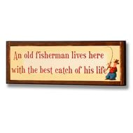 An  Old  Fisherman  Lives  Here  With  The  Best  Catch  Of  His  Life