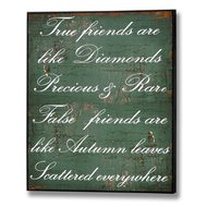 True  Friends  Are  Like  Diamonds  Plaque