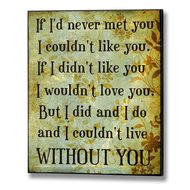 If  I'd  Never  Met  You  Plaque