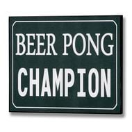 Beer  Pong  Champion  Plaque