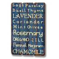 Herbs  Plank  Style  Plaque