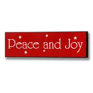 Peace  And  Joy  Christmas  Plaque