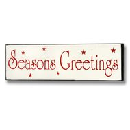 Season's  Greetings  Plaque