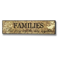 Families  That  Play  Together    Plaque