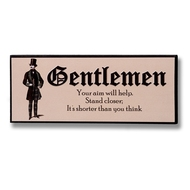Gentlemen  Plaque