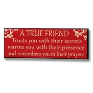 A  True  Friend  Plaque