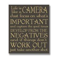 Life  Is  Like  A  Camera  Plaque