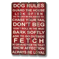 Dog Rules 3 Panel Plaque