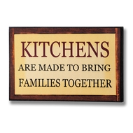 Kitchens  Bring  Families  Together  Plaque