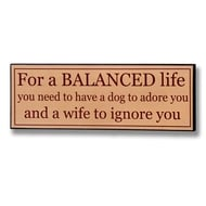 A  Balanced  Life  Plaque