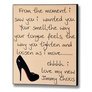 Jimmy Choos Plaque