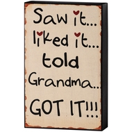 Grandma  Shelf  Plaque