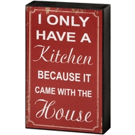 Kitchen  Shelf  Plaque