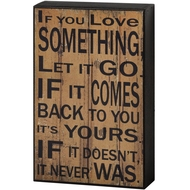 Let  It  Go  Shelf  Plaque