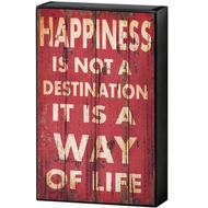 Happiness  Shelf  Plaque