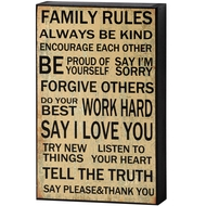 Family  Rules  Shelf  Plaque