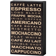 Coffee  Shelf  Plaque