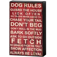 Dog  Rules  Shelf  Plaque