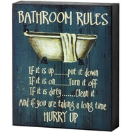 Bathroom  Rules  Shelf  Plaque
