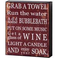 Grab  A  Towel  Shelf  Plaque