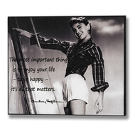 Audrey  Hepburn  -  To  Be  Happy  Plaque
